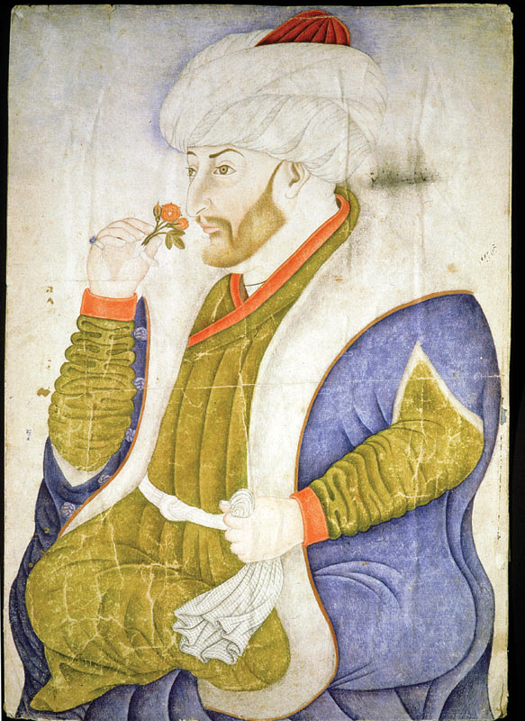 A 15th-century portrait of Sultan Mehmed II, the Conqueror