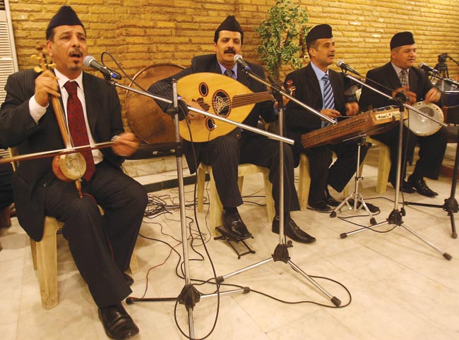 The Iraqi maqam ensemble Angham al-Rafidain performs in Baghdad, 2010