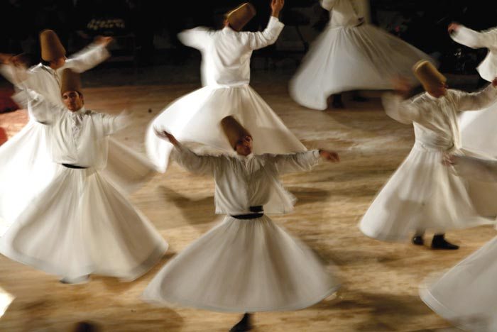 Whirling Dervishes dance in Konya, Turkey, 2003