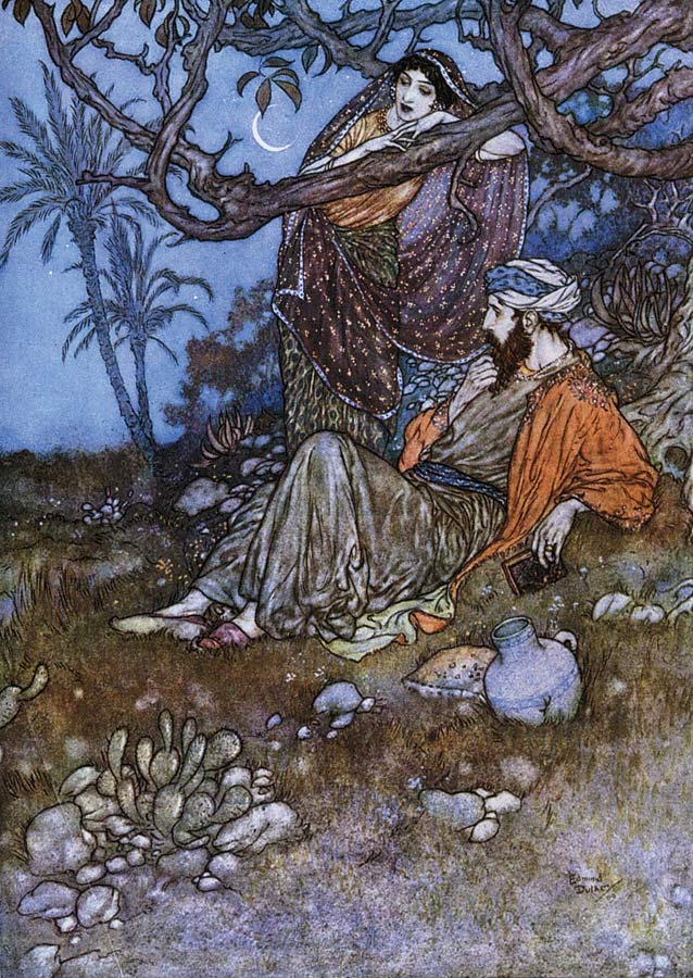 Edmund Dulac's illustration from the 1909 edition of FitzGerald's The Rubáiyát of Omar Khayyám